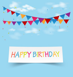 Birthday celebration greeting card vector