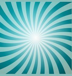 blue retro background with star shape sun burst vector image