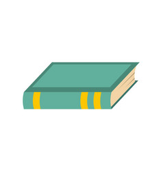 Book biology icon flat style vector