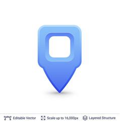 bright location pin vector image vector image