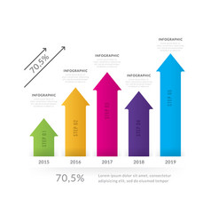 business chart statistics with arrows vector image