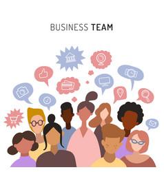 Business team sharing ideaschatting teamwork vector