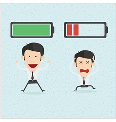 Businessman and life energy vector