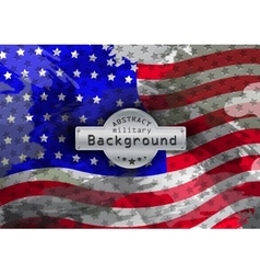 Camouflage military grunge pattern flag USA vector