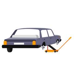 car repairing and maintenance mechanics services vector image