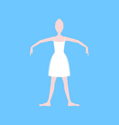 cartoon basic ballet position vector image