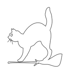 cat outline icon symbol design vector image