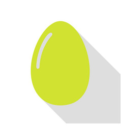 chiken egg sign pear icon with flat style shadow vector image