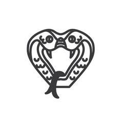 Cobra icon vector