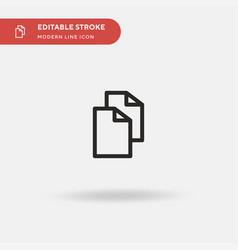 Copy simple icon symbol vector