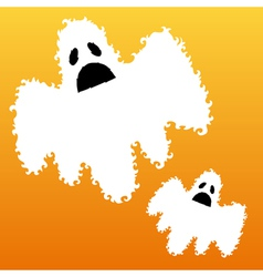 decorative ghosts vector image