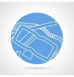 Diving mask line icon vector image