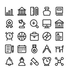 education line icons 2 vector image