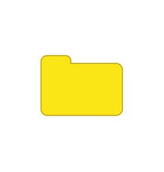 flat design style closed folder icon on white vector image