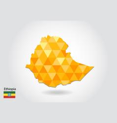 Geometric polygonal style map of ethiopia low vector