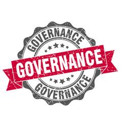 governance stamp sign seal vector image