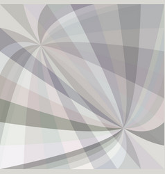 Grey curved ray burst background - design from vector