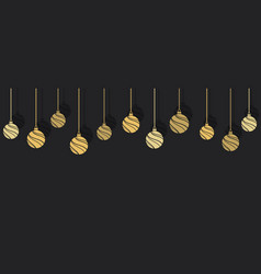 hanging christmas balls ornaments vector image