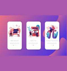 Higher education in university college mobile app vector