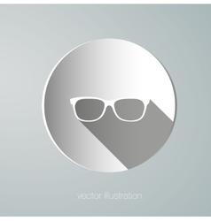 Icon paper glasses vector