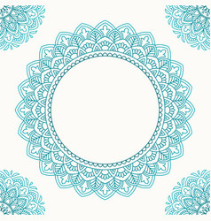 invitation card with mandala vector image