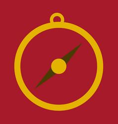 Isolated flat compass compass traveler compass vector