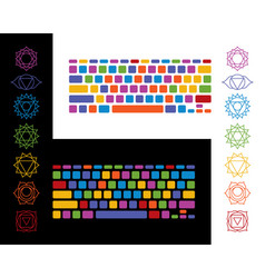 Keyboard yoga chakra colorful vector