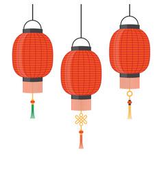 Lantern icon chinese or japanese red lantern vector