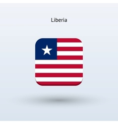 Liberia flag icon vector