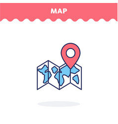 map icon vector image