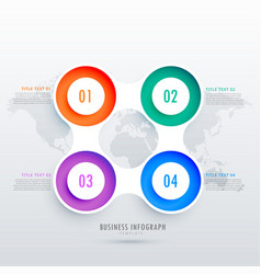 Modern circular four steps infographic design can vector