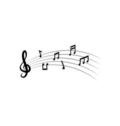 Music notes graphic design template vector