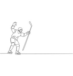 one continuous line drawing young professional vector image