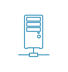 online server linear icon concept online server vector image