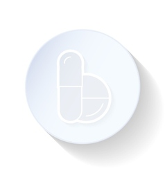 Pills thin lines icon vector image