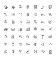 Public place navigation icons vector