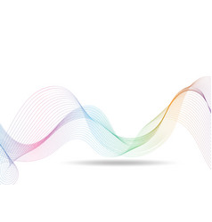 rainbow waves lines gradient colorful on white vector image