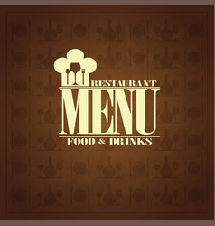 restaurant food and drinks retro menu design vector image