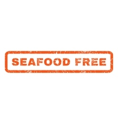 Seafood Free Rubber Stamp vector