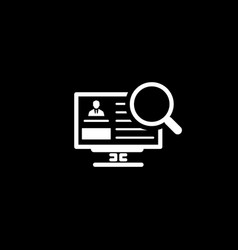 Search for partners icon business concept flat vector