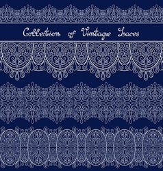 Set of Vintage Template with Ornate Laces vector