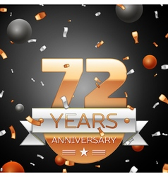 Seventy two years anniversary celebration vector image