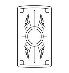 Shield with ornament icon outline style vector