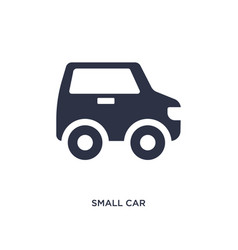 Small car icon on white background simple element vector