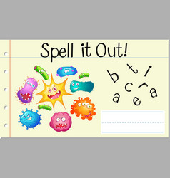 Spell english word bacteria vector