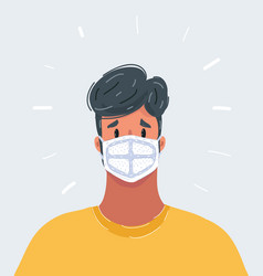 Stop infection photo man wear protective vector