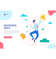 success concept banner can use for web banner vector image