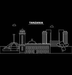 tanzania silhouette skyline city vector image