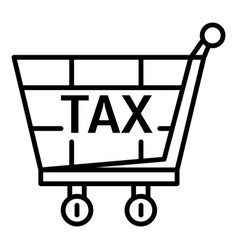 tax shop cart icon outline style vector image