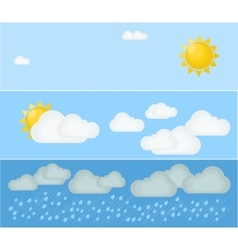 Three kinds of summer day weather vector